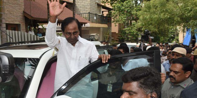 K Chandrashekhar Rao in a file