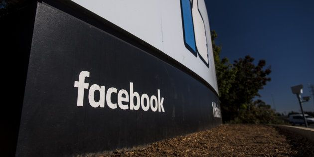 Signage outside Facebook Inc. headquarters in Menlo Park, California,