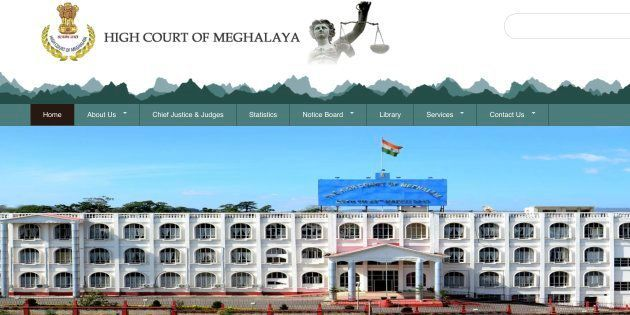 Screenshot of the Meghalaya High Court
