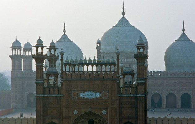 The Badshahi Mosque in Lahore, built by the Mughal Emperor Aurangzeb in