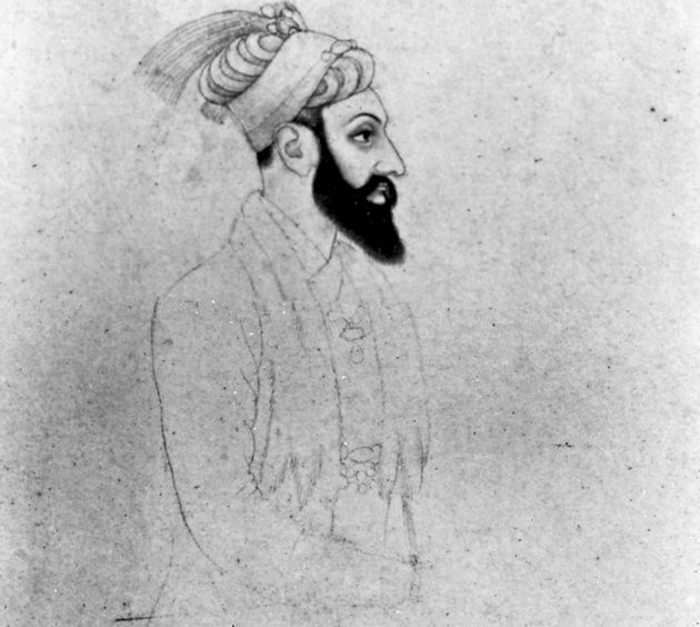 Portrait of Aurangzeb, last of the great Mughal emperors of