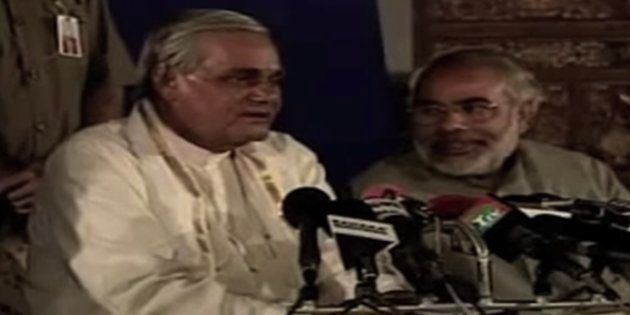 WATCH: How Modi Reacted When Late PM Atal Bihari Vajpayee Reportedly Rapped Him Over The Gujarat