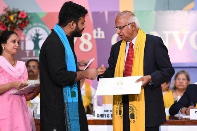 Fahad Ahmad refusing the degree at