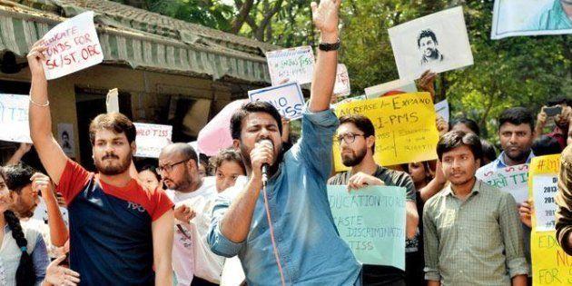 Fahad Ahmad protesting at