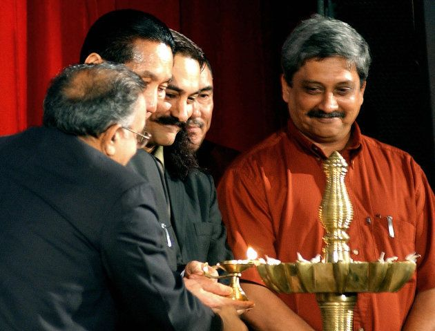 Parrikar (right), actor Aamir Khan and others at the inaugural ceremony of the IFFI in