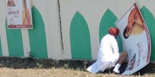 Urinating In Public Is An Age Old Tradition, Says BJP Minister Who Relieved Himself Near A Campaign Poster...