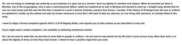 Screenshot of the email that complainant sent to Brigadier AS