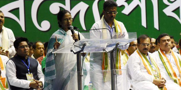 Mamata Banerjee at the Trinamool Congress Party