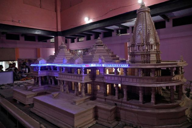 A model of the proposed Ram temple in