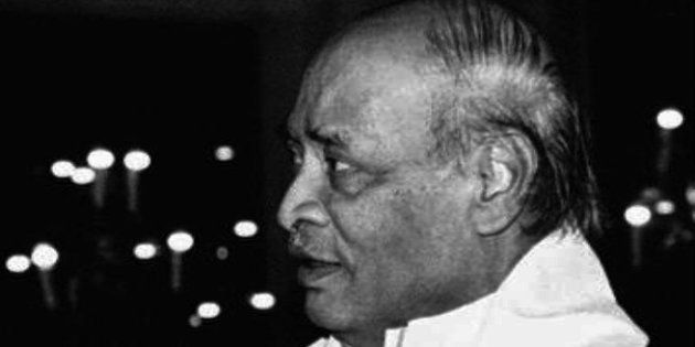 Prime Minister Narasimha Rao attends a dinner after submitting his resignation in New Delhi Friday, May...
