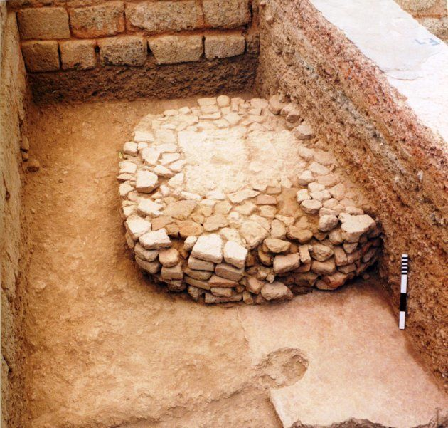 Pillar base excavated by ASI in