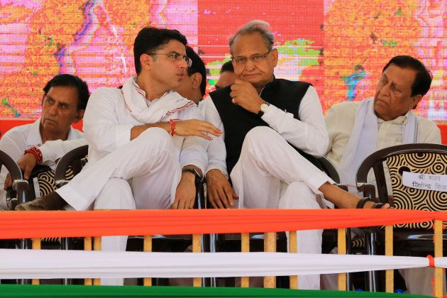 Pilot (left) and former chief minister Ashok Gehlot are both seen as strong contenders for the state's...