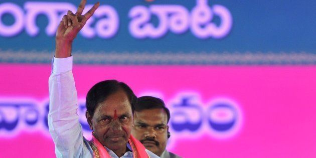 A file photo of Telangana Rashtra Samithi (TRS) party president K Chandrashekar