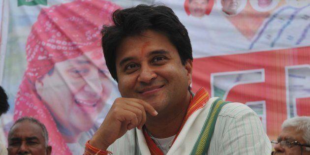 Congress MP Jyotiraditya Scindia in a file