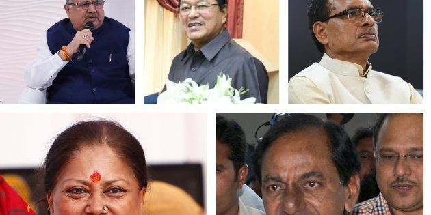 The chief ministers of the five states where assembly elections have taken