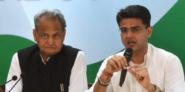Rajasthan Congress chief Sachin Pilot and senior leader Ashok