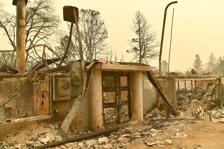 Paradise Elementary School, destroyed during the Camp fire in Paradise in November, California's worst ever wildfire.