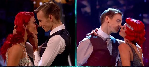 SMOOTH: Strictly Come Dancing's Joe Sugg Expertly Dodges Dianne Buswell Kiss