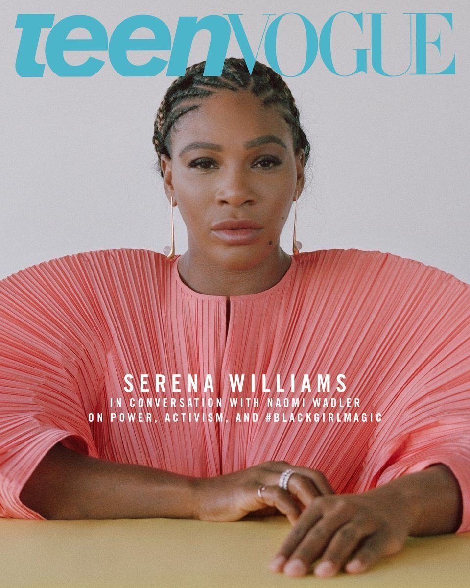 Serena Williams on the cover of Teen Vogue
