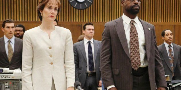 Sarah Paulson and Sterling K. Brown in