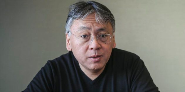 TORONTO, ON- MARCH 17 - Author of The Buried Giant Kazuo Ishiguro for interview at Random House. They made cookies with the logo of the cover of the book on them for a meet and greet after our interview. March 17, 2015        (David Cooper/Toronto Star via Getty Images)