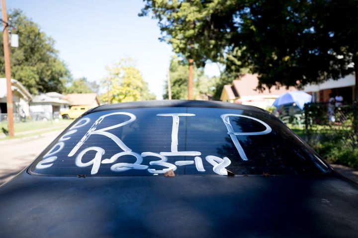 The date Delashon died was written on shoe polish on the back of her mother's car.