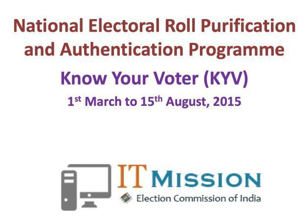 A February 2015 Election Commission of India (ECI) presentation on linking of voter identity numbers...