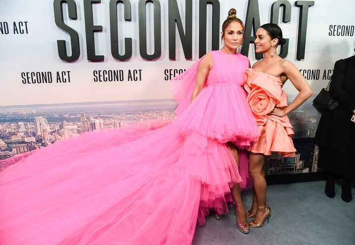 f31915d7da Jennifer Lopez with Vanessa Hudgens at the premiere of