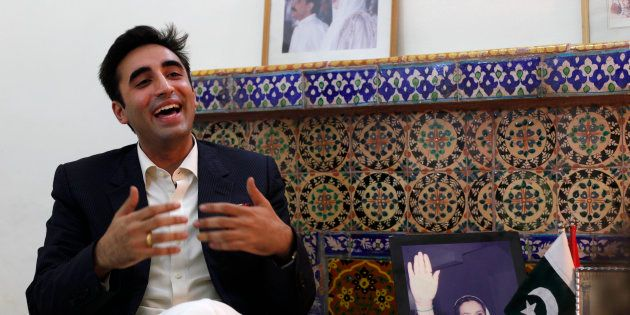 Bilawal Bhutto Zardari, chairman of the Pakistan Peoples Party (PPP) during an interview at his family...