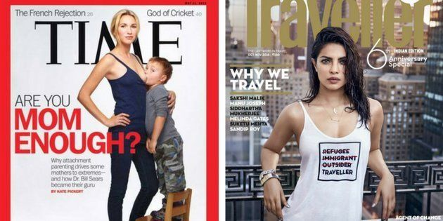 Screenshots of the controversial Time magazine and Conde Nast Traveller