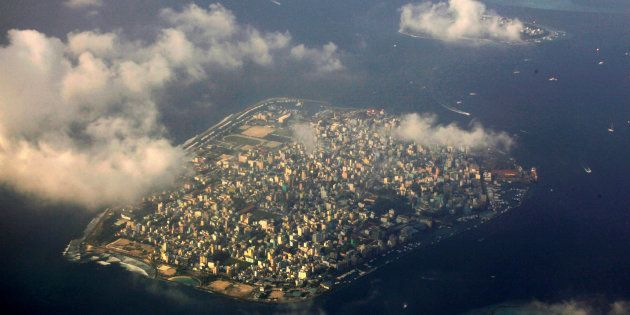 Aerial view of Maldives capital