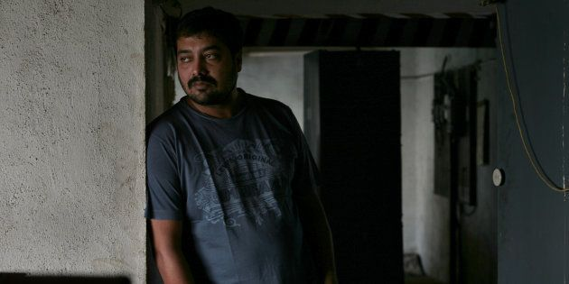 Indian film director, screenwriter, producer and actor Anurag Kashyap in 2009. (Photo by Soumitra Ghosh/Hindustan...