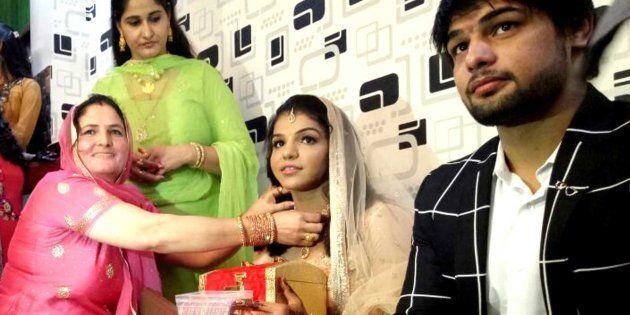 Rio Olympic medallist Sakshi Malik on Sunday got engaged to wrestler boyfriend Satyawart
