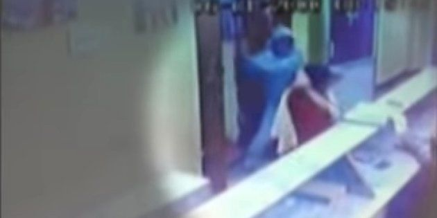 Man Attacks Woman With Sword In A Temple In