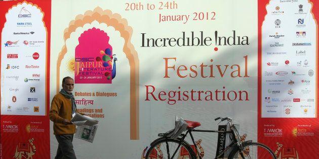 Jaipur Literature Festival, January 22, 2012. REUTERS/Altaf