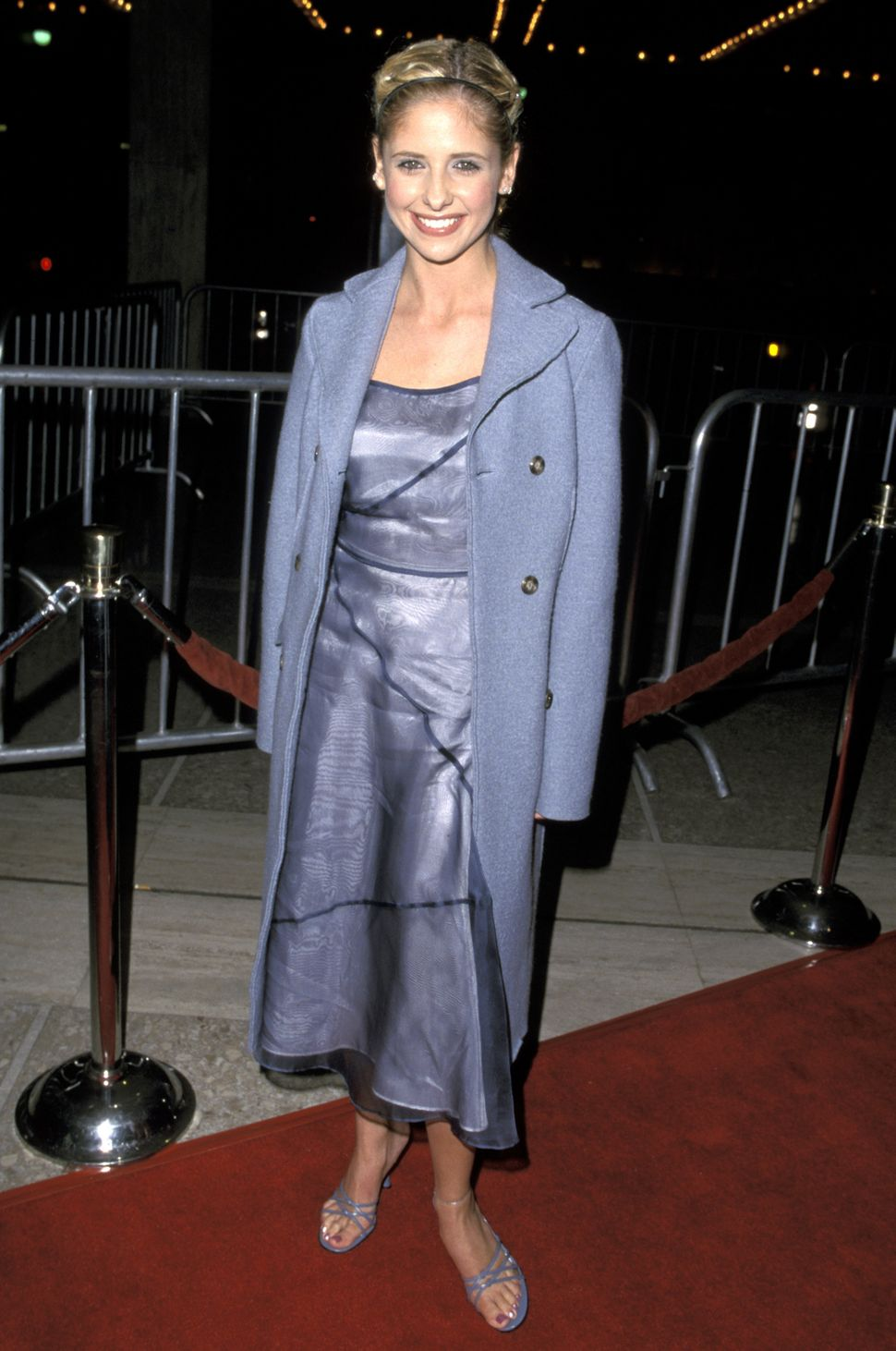 "Sarah Michelle Gellar at the 1999 premiere of ""Simply Irresistible."""