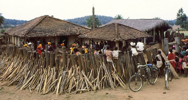 Celebrations at a community meeting place in a tribal village in