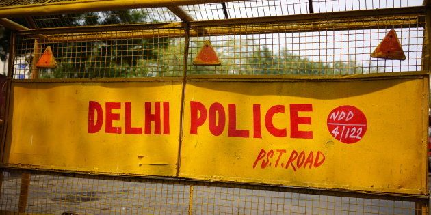 Delhi Police Road Barrier, New Delhi,
