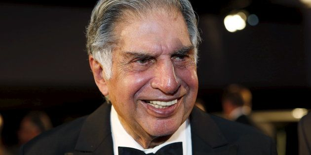 Ratan Tata attends an event where he was inducted into the 2015 Automotive Hall of Fame in Detroit,