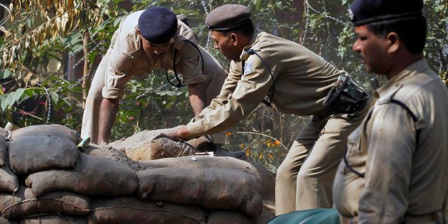CRPF Sets Up More Check Points, Sand Bunkers In