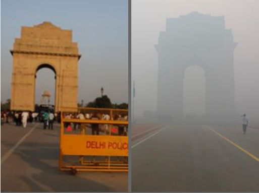 This Before And After Diwali Photo Of India Gate Shows The Toxic Effect Of