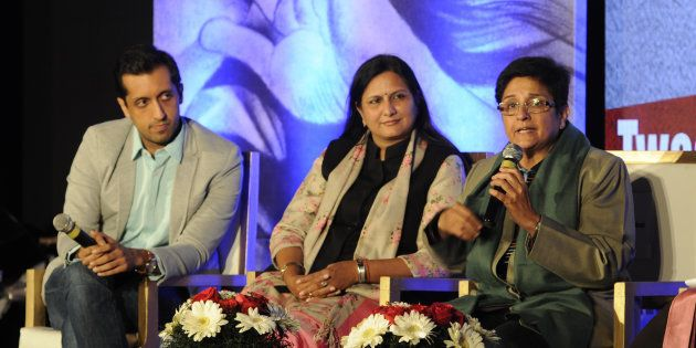 (L - R) Rishi Jaitly Twitter Head (India), Kawaljeet Singh, Kiran Bedi participating in panel discussion...