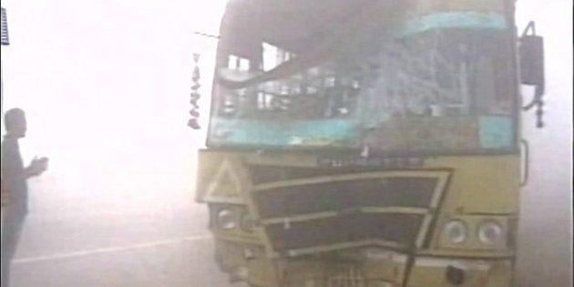 Dense Fog Causes 20-Car Pile-Up On Yamuna