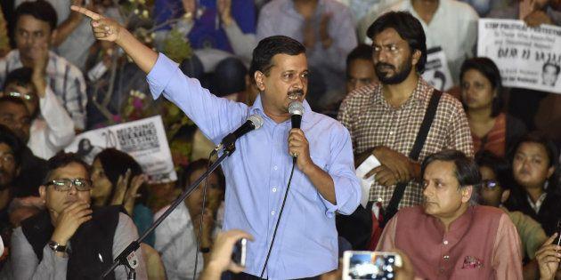 Delhi CM Arvind Kejriwal at JNU campus on 3 November