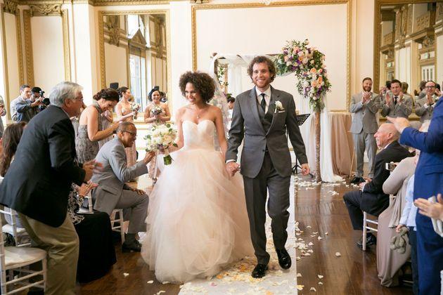 Jennifer Frappier and Ari Schneider married in