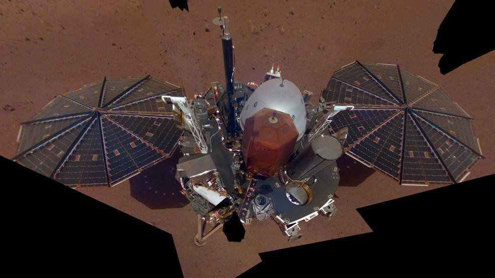 NASA spots Mars InSight lander from space