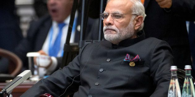 Indian Prime Minister Narendra Modi attends the G20 Summit in Hangzhou, Zhejiang province, China, September...