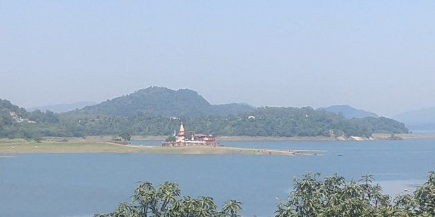 A view of the Bhakra reservoir on 14 September