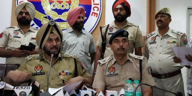 Jalandhar police commissioner Gurpreet Singh Bhullar at a press conference on