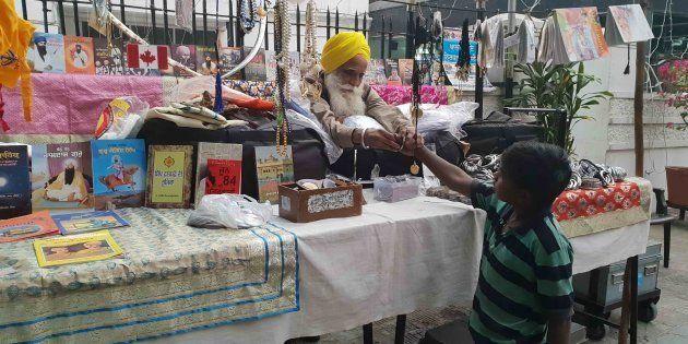 Tajinder Pal Singh, was one of five Sikh radicals who hijacked flight IC 423 in 1981. Today, he sells religious paraphernalia outside a gurudwara in Jalandhar. Photo: Rachna Khaira